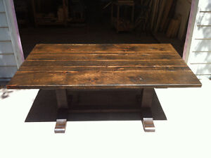 NEW RUSTIC PINE TRESTLE TABLE FOR SALE
