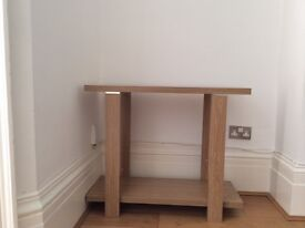 Beautiful oak colour console table - £15