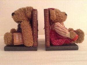 Vintage Collectible stuffed animal Teddy Bear Bookends