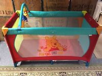 Hauck Disney Baby Winnie the Pooh Dream and Play Travel Cot New with Tags
