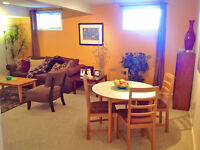 Bright, furnished suite