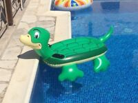 Inflatable Turtle Ride-on Float Pool Beach Toy