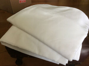 Table cloths,  2 large white T.CL weddings or personal use