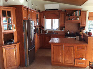 Ensemble armoires de cuisine en chêne