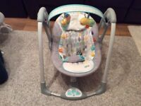 Bright Starts Taggies Portable Baby Swing