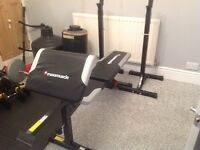 Adjustable weights bench and stands