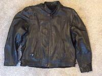Leather Motorcycle Jacket - Men's