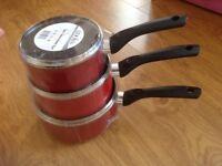 Cooks Essentials Non Stick Aluminium Saucepans.