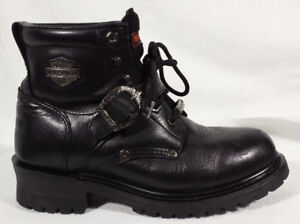 Bottes HARLEY Femme Taille 7.5 Cuir LACÉES une courroie 70$ V