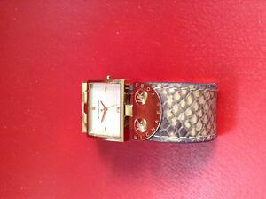 Genuine Snakeskin Michael Kors Ladies Watch. Used.