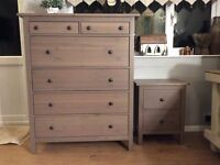 IKEA matching chest of drawers and bedside drawers in very good condition.
