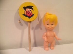 FRED FLINTSTONE DRUM / RATTLE & BAMM BAMM RUBBLE FIGURE