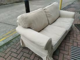 IKEA Ektorp lofallet beige 2 seat sofa 170cm long with washable covers