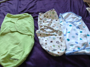 3 baby swaddlers