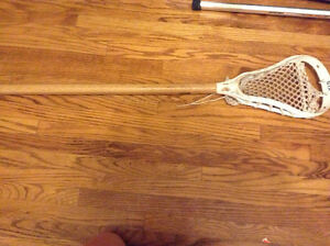 Wood handled lacrosse stick for sale