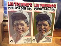 Lee Trevino Priceless Golf Tips VHS 2 Tape Set