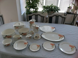 Villery and Boch Iris Complete Dinner set for 12 Plus all extra