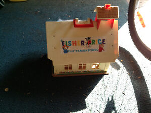 Vintage fisher price school house and house for sale London Ontario image 1