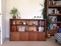 Vintage retro teak bookcase unit