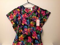 Dress - flower pattern, see photos. 1-size. (NC46)