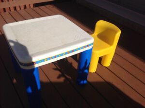 Little tikes table and 1 chair good condition