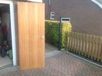 Mahogany veneered internal doors