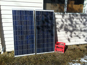 2x 130w Sharp polycrystalline solar panels