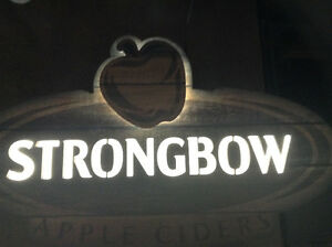 LED Strongbow cider sign Kingston Kingston Area image 1