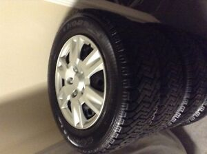 235/60R/16 Winter tires, 5 hole rims and hubcaps