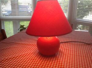 Red Ceramic Lamp