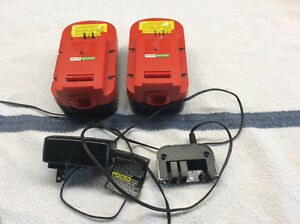 Two Black and Decker Batterys
