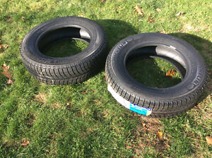 Two Brand New Michelin Xice Snow Tires Size: P195/65/15