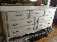 French provincial white dresser