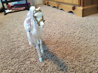 White Barbie Horse