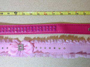 ** BRAND NEW ** 2 pink / fuchsia dog collars - size L - 29 inch Cambridge Kitchener Area image 3