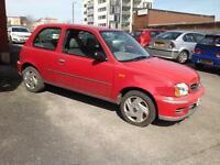 Nissan Micra Vibe 1.0 Hatchback 3 door 2002 02,reg manual