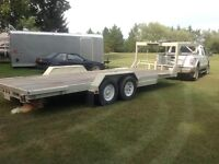 22' flat deck fifth wheel trailer for sale or trade
