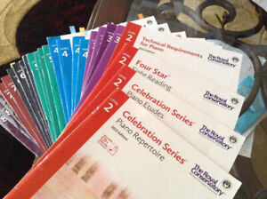 RCM piano practical exam book sets level 3 or 5