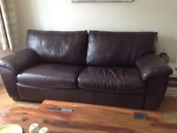 REDUCED WAS £250 NOW £200 - IKEA 3 SEATER LEATHER BED SETTEE