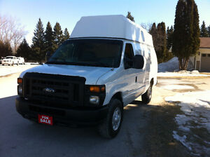 2008 FORD E350 ECONOLINE RAISED ROOF VAN
