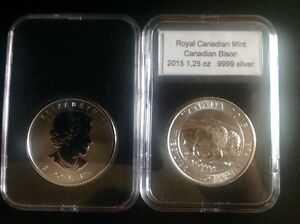 silver bullion Canadian Bison 1,25 oz/once first year