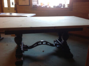 Harvest Table on Old Antique Legs