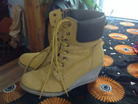 REDUCED!!!! Beautiful wedge boots, in great condition!!!!