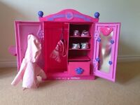 Build a Bear wardrobe, plus 2 pairs of bear shoes and 2 bear tops.