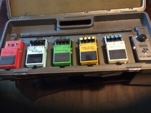 Boss and Mxr pedals and case