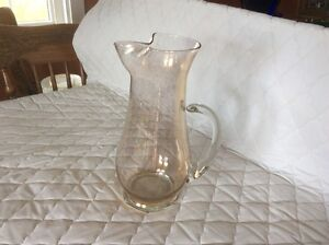 Glass water pitcher - REDUCED from $15 to $10