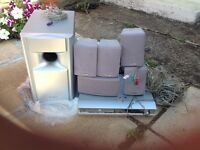 Toshiba subwoofer speaker system and DVD player