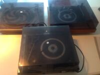 3 Vintage Record Players