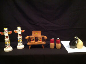 VARIETY OF SALT & PEPPER SHAKERS ( 4 CLASSIC SETS )