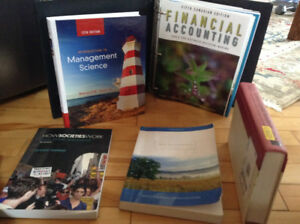 Various Text Books used to achieve a Unversity Business Degree
